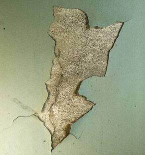crack in wall
