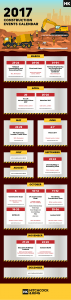 construction event and conferences calendar inforgraphic