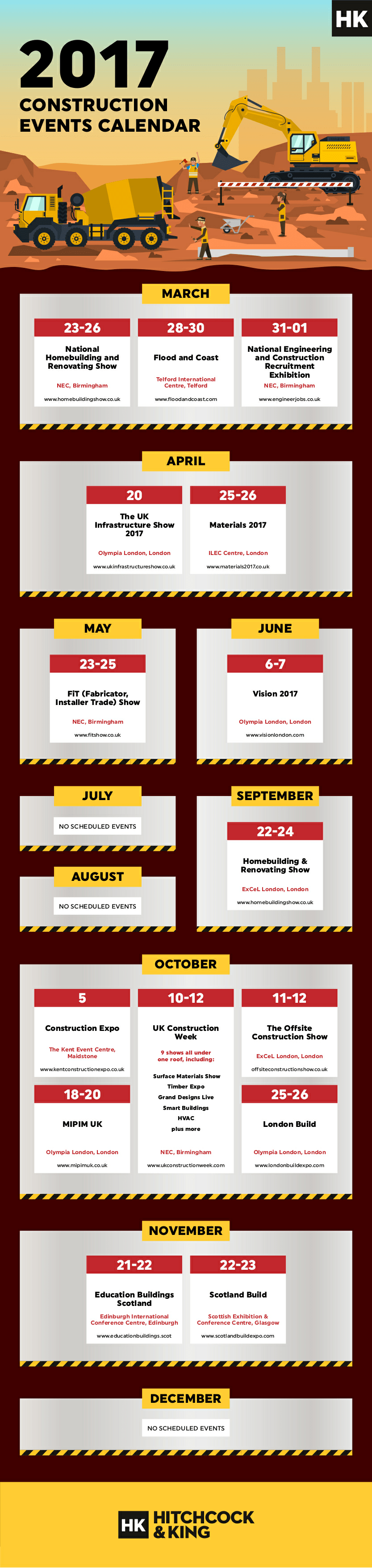 Construction conferences and events calendar 2017