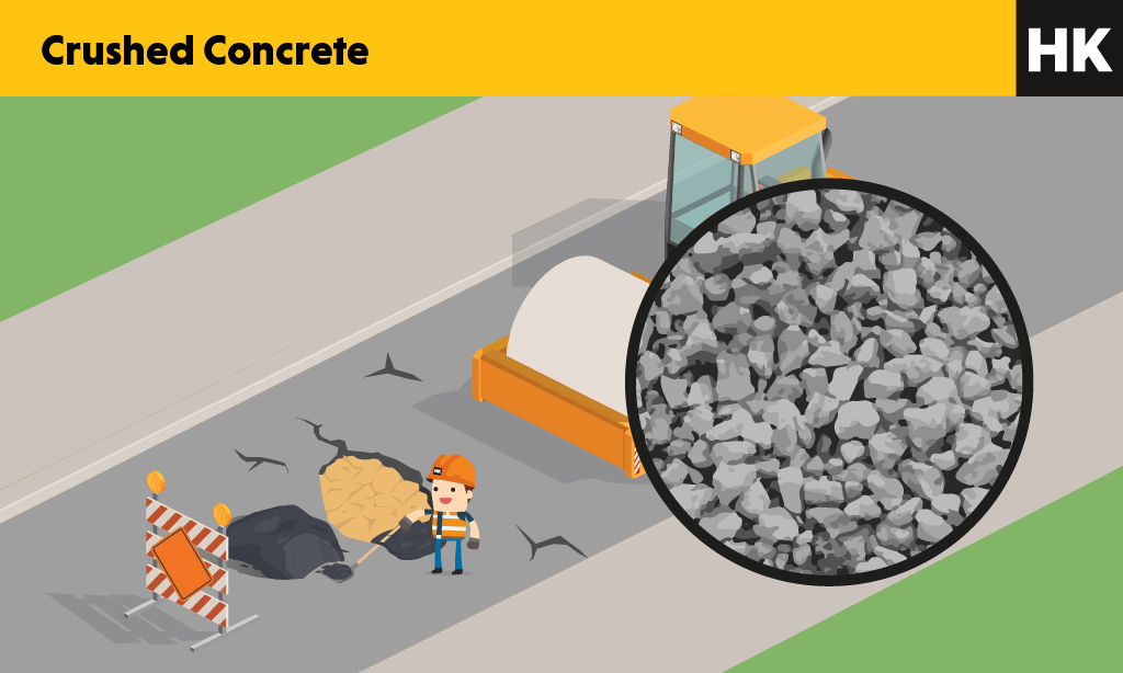Crushed concrete picture